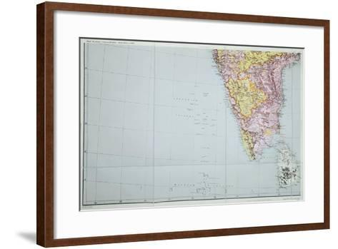Map of Southern India, 1898--Framed Art Print