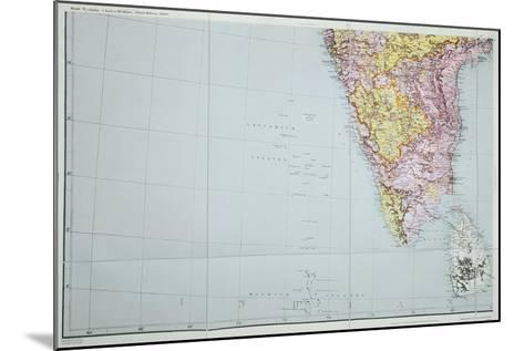 Map of Southern India, 1898--Mounted Giclee Print