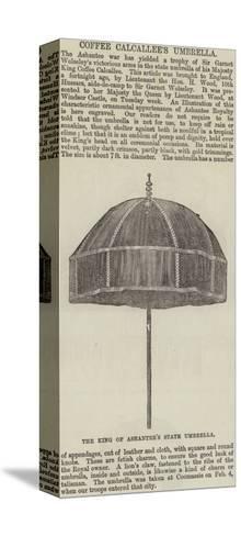 Coffee Calcallee's Umbrella--Stretched Canvas Print