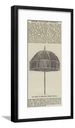 Coffee Calcallee's Umbrella--Framed Art Print