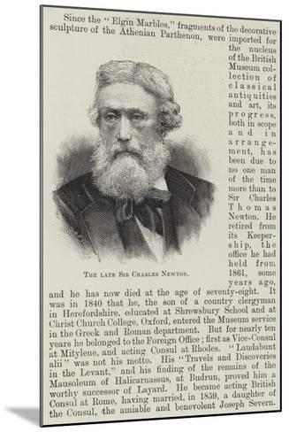 The Late Sir Charles Newton--Mounted Giclee Print