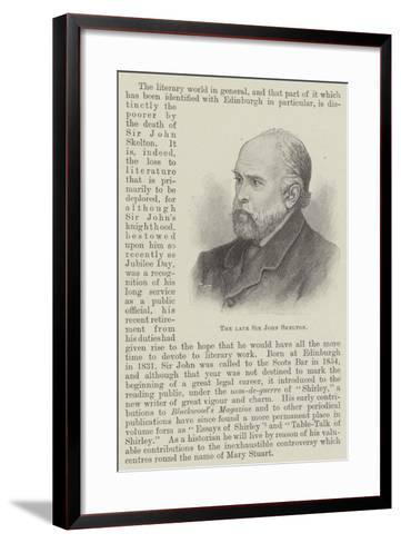 The Late Sir John Skelton--Framed Art Print