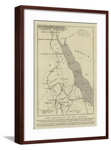 The Rebellion in the Soudan--Framed Art Print