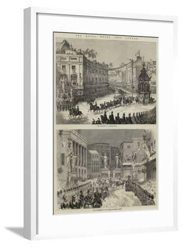 The Royal Entry into London--Framed Art Print