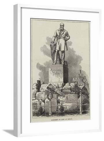 Monument of Jahn at Berlin--Framed Art Print