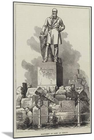 Monument of Jahn at Berlin--Mounted Giclee Print