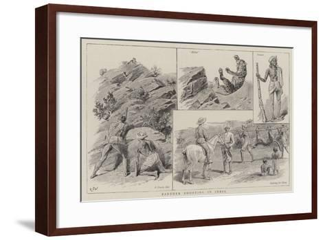Panther Shooting in India--Framed Art Print