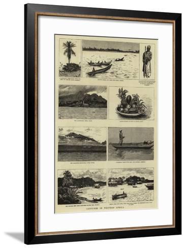 Sketches in Western Africa--Framed Art Print