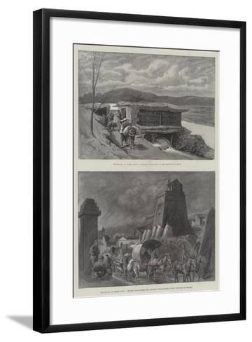 Travelling in North China--Framed Art Print