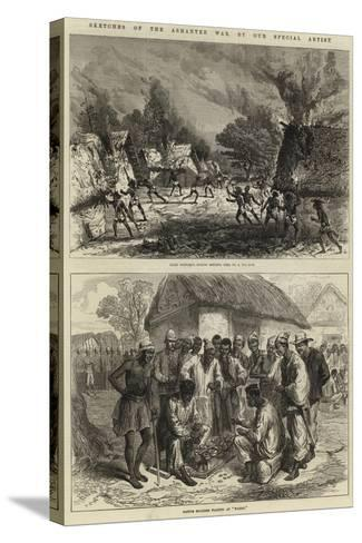 Sketches of the Ashantee War--Stretched Canvas Print