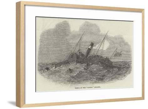 Wreck of the Superb Steamer--Framed Art Print