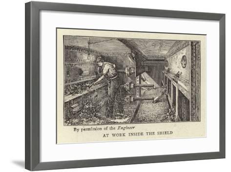 At Work Inside the Shield--Framed Art Print