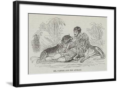 Mr Carter and His Animals--Framed Art Print