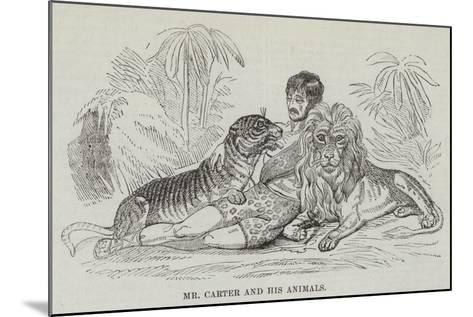 Mr Carter and His Animals--Mounted Giclee Print