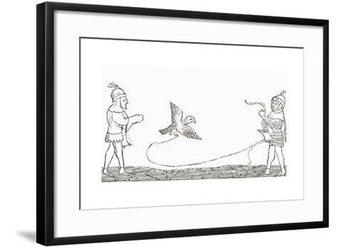 Falconry in the Middle Ages--Framed Art Print
