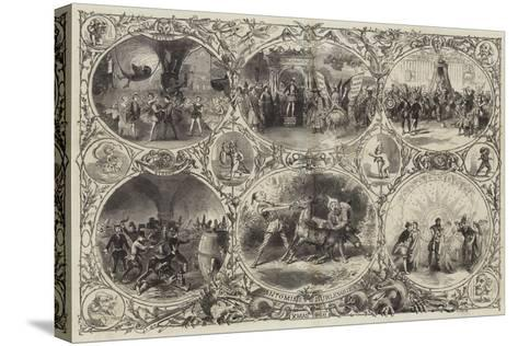 Pantomimes and Burlesques--Stretched Canvas Print