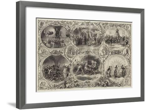 Pantomimes and Burlesques--Framed Art Print