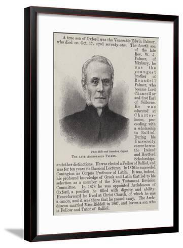 The Late Archdeacon Palmer--Framed Art Print