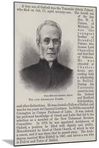The Late Archdeacon Palmer--Mounted Giclee Print