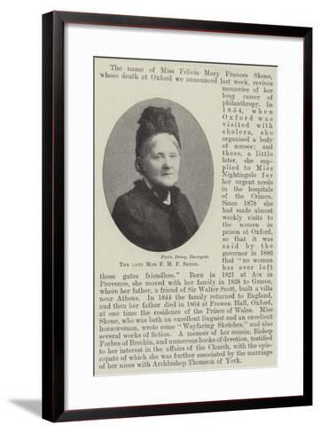 The Late Miss F M F Skene--Framed Art Print