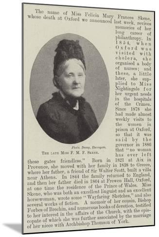 The Late Miss F M F Skene--Mounted Giclee Print