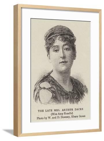The Late Mrs Arthur Dacre--Framed Art Print