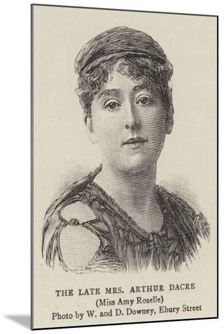 The Late Mrs Arthur Dacre--Mounted Giclee Print