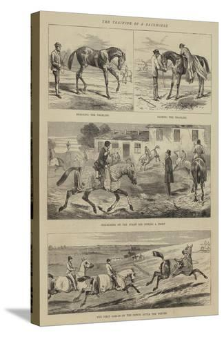The Training of a Racehorse--Stretched Canvas Print