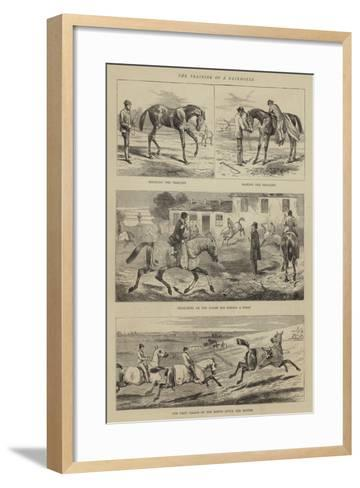 The Training of a Racehorse--Framed Art Print