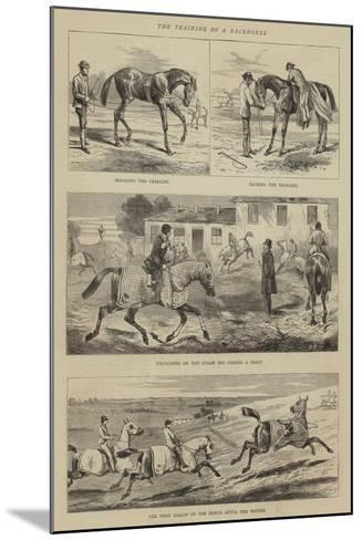 The Training of a Racehorse--Mounted Giclee Print
