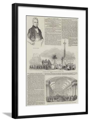 Funeral of Jacques Lafitte--Framed Art Print