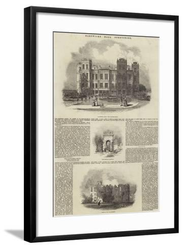 Hardwicke Hall, Derbyshire--Framed Art Print