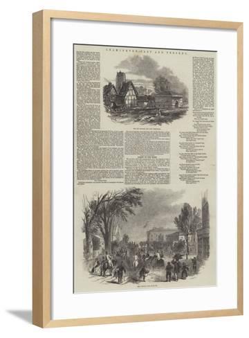 Leamington, Past and Present--Framed Art Print