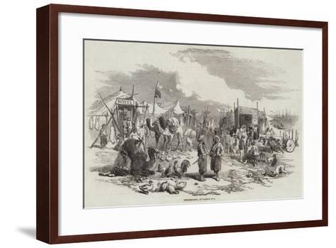 Encampment, at Besika Bay--Framed Art Print