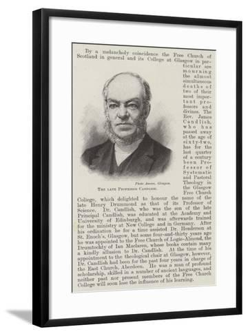 The Late Professor Candlish--Framed Art Print