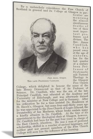 The Late Professor Candlish--Mounted Giclee Print