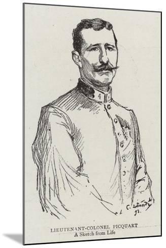 Lieutenant-Colonel Picquart--Mounted Giclee Print