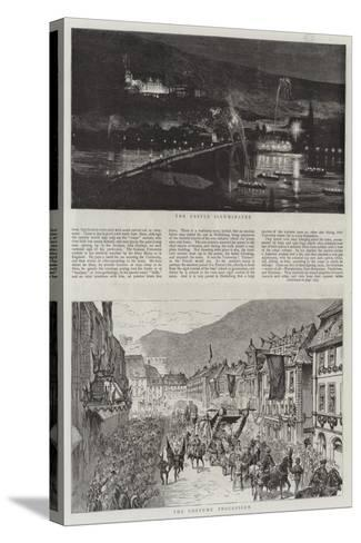 The Heidelberg Festivities--Stretched Canvas Print
