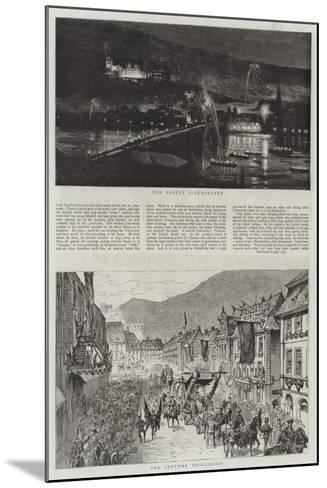 The Heidelberg Festivities--Mounted Giclee Print