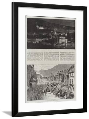 The Heidelberg Festivities--Framed Art Print
