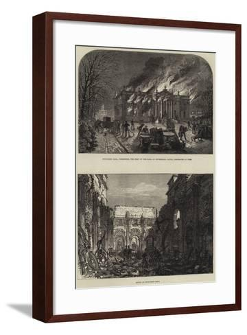 The Fire at Duncombe Hall--Framed Art Print
