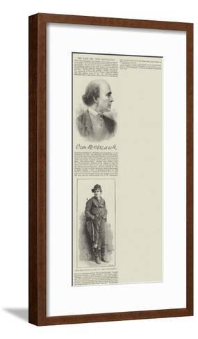 The Late Mr Dion Boucicault--Framed Art Print