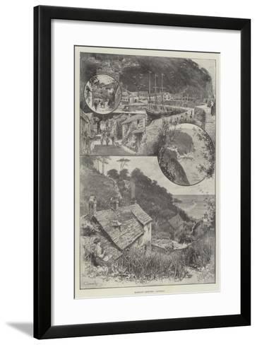 Rambling Sketches, Clovelly--Framed Art Print