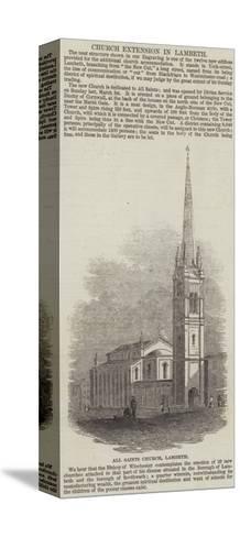 All Saints Church, Lambeth--Stretched Canvas Print