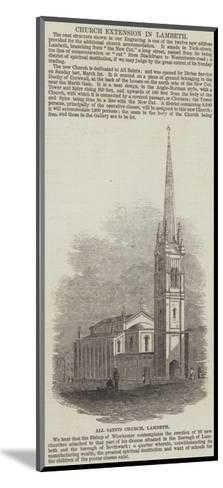 All Saints Church, Lambeth--Mounted Giclee Print