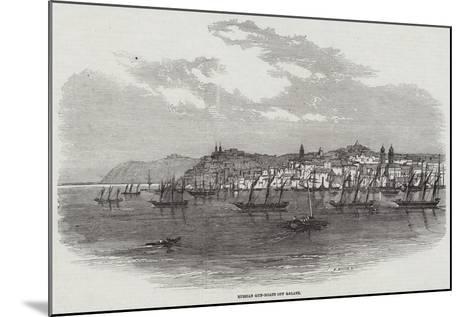 Russian Gun-Boats Off Galatz--Mounted Giclee Print