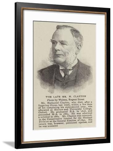 The Late Mr N Clayton--Framed Art Print