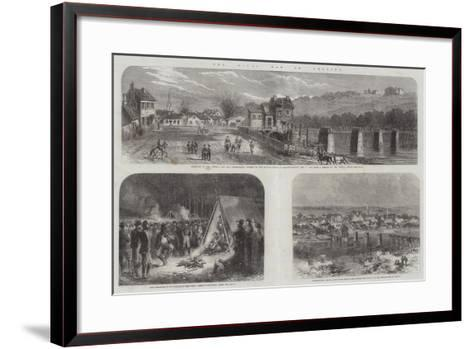 The Civil War in America--Framed Art Print