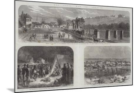The Civil War in America--Mounted Giclee Print