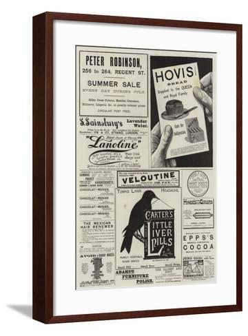 Page of Advertisements--Framed Art Print